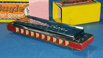 Vintage Bugle Harmonica from Koch with original box, Great Condition