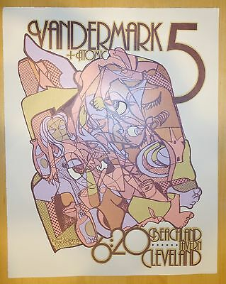 2004 Vandermark 5 - Cleveland Concert Poster by Andrew Todd