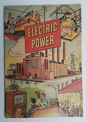 Vintage 1952 Electric Power Comic Book Westinghouse School Service