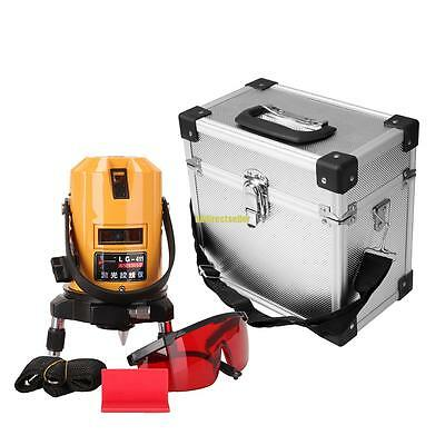Professional Automatic Self Leveling 5 Line 6 Point 4V1H Laser Level Measure Kit