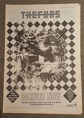 The Furs Forever now  1982 press advert Full page 30 x 42cm mini poster