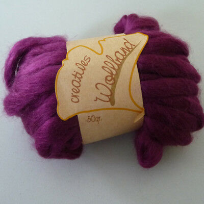 Decor Wool band Wool cord Ball of wool Wool ideal for Frisk 12mm purple 50g/9m