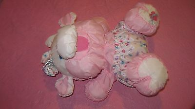 1999 Fisher Price Care For Me Puffalumps Cow Baby Pink