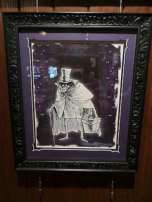 Disney Hatbox Ghost From The Haunted Mansion Hand Painted Cel Le 300