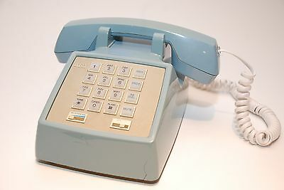 Vintage AT&T Push Button Telephone Classic Powder Blue