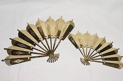 Homco Home Interiors & Gifts - Pair of Tin Fans Metal Wall Decor