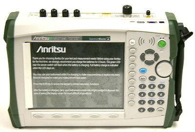 ANRITSU MS2724C Handheld Spectrum Analyzer 9kHz to 20GHz