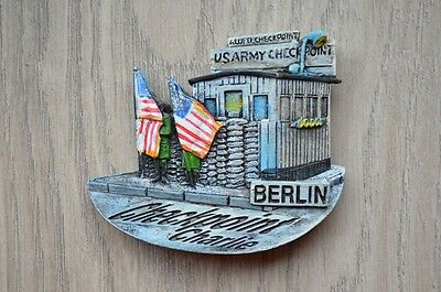 Checkpoint Charlie Berlin Germany  souvenir fridge magnet