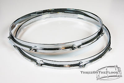 "1960s Rogers 14"" Hoops : Snare Drum / Floor Tom Powertone Holiday Cleveland  HP1"