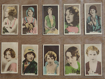 CINEMA STARS(hand coloured) - CAVANDERS - Full Set of 30 - 1934  - EX con