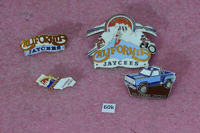 4 California Jaycees Pins.