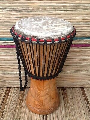 """Genuine African 11"""" Djembe drum with free drum hat"""