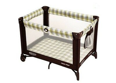 Portable Fold-able Infant Baby Kids Playard Play Pen Crib Ashford Carry Case New