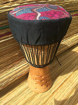 """Genuine African 9"""" Djembe drums with HALF PRICE DRUM HAT"""
