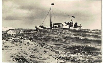 Real Photograph Postcard of Dutch Lifeboat at sea 1980s