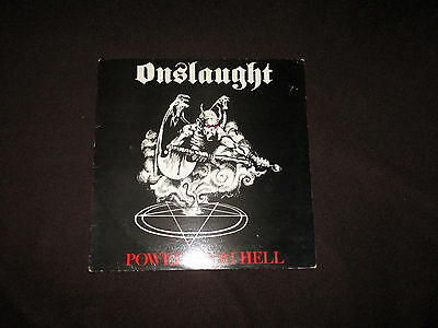 Onslaught - Power From Hell Lp - 1985 A1/b1 - Children Of The Revolution -Gurt 2