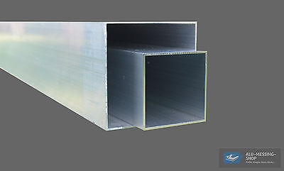 Aluminum Square tubing Tube Hollow section Alloy profile off 0,5 m
