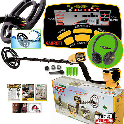Garrett Ace 250 Metal Detector w/ WaterProof Coil and ClearSound Headphones