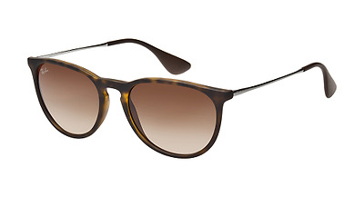 Ray Ban ERIKA RB4171 Havana Tortoise Frame Brown Gradient Lens 54mm
