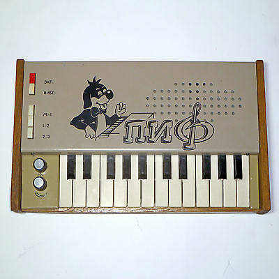 "SOVIET VINTAGE ANALOG SYNTHESIZER ""PIF"" (Ussr synth russian keyboard piano rare)"