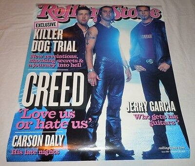 CREED~Rolling Stone Poster~Promo Poster~2002~18x22~Excellent Condition