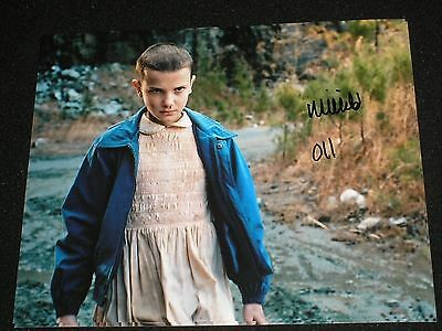 "MILLIE BOBBY BROWN Signed 8x10 Photo Stranger Things ""11"" Autographed"