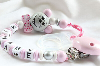 Pacifier Clip with baby name on it - Personalised dummy clip baby gift xx