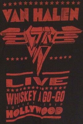 Van Halen Live Whiskey A Go Go T-Shirt Adult Size Small Absolutelyawesome A1+