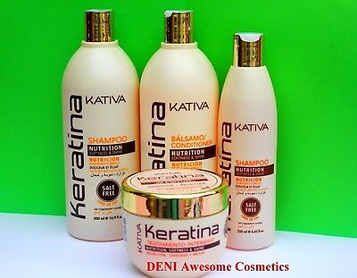 KATIVA Keratin Hair Treatment Mask and Shampoo - FREE Salt&Sulfate
