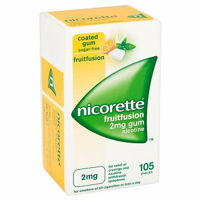 NICORETTE 2mg LOW STRENGTH fruitfusion sugar free gum - 105 pieces fruit fusion