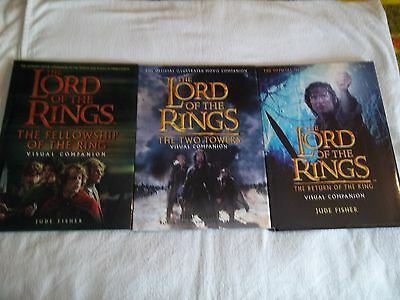 LOT OF 3 The Lord Of The Rings Visual Companion Books Jude Fisher