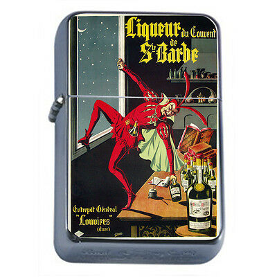 Vintage Poster D79 Windproof Dual Flame Torch Lighter Liqueur of Sir Barbe