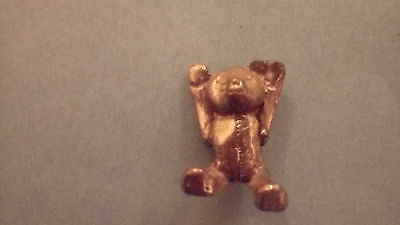 Teddy Bear old pewter miniature