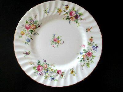 MINTON MARLOW PATTERN S309 ENGLAND SIDE PLATE  FLORAL SCALLOPED RIM PLATE 20cm