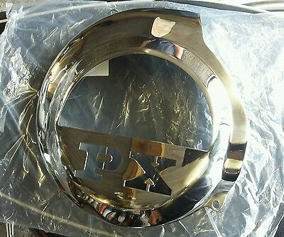 Vespa P200E 125 150 LML Non elec Model Polished Stainless Steel Flywheel Cover