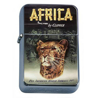 Vintage Poster D88 Windproof Dual Torch Lighter Africa By Clipper Pan American