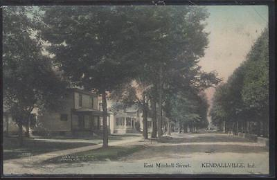 Postcard KENDALLVILLE Indiana/IN  East Mitchell Street Family Houses/Homes 1907