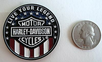 "Genuine Harley-Davidson ""live Your Legend"" Challenge Coin Collectible Biker"