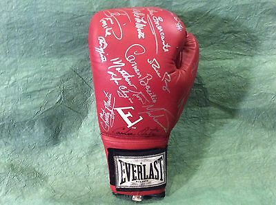 Boxing Hall Of Fame Signed Glove Many Autographs  Very Low Buy It Now!!