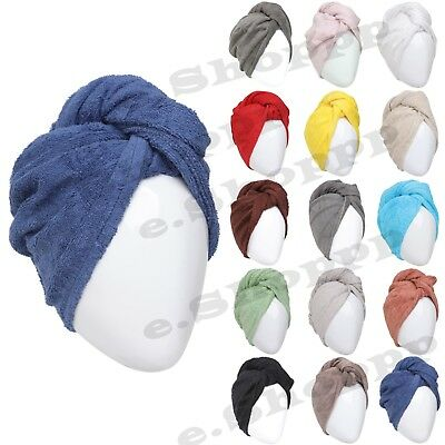 100% Cotton Hair Turban Towel, Cotton, Turbie Hair Wrap, Turbie Twist Wrap Loop