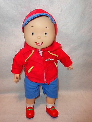 "CAILLOU BEST FRIEND Talking Doll 16"" Tall  25th Anniversary Sings Theme Song"