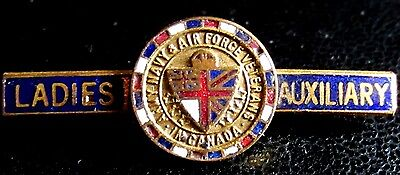 Ladies Auxiliary Army Navy Air FORCE Veterans pin vintage