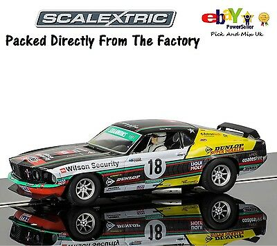 NEW Scalextric Slot Car Ford Mustang Boss 302 1969 - John Bowe Clipsal 500 C3728