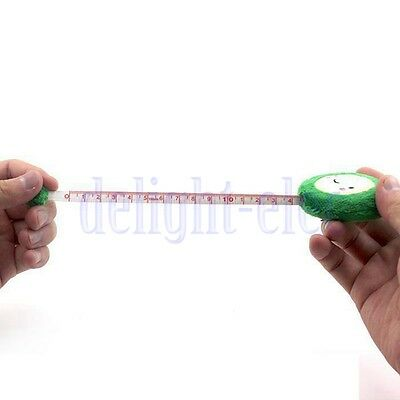 1.5M Mini Plush Retractable Ruler Measure Sewing Tailor Cloth Green DE