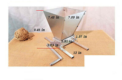 Brand New Details about Hand Held Malt Grain Mill Home Brewed Beer Machine