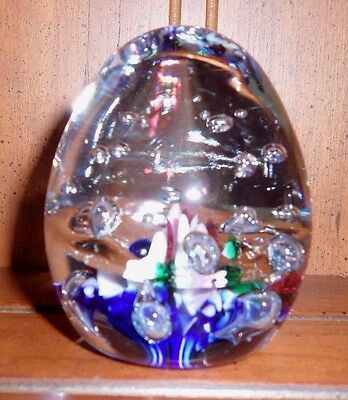 Gibson Art Glass Paperweight - 1995 - Multicolor