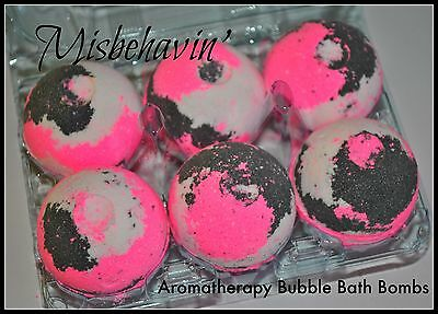MISBEHAVIN' Black Aromatherapy Bubble Bath Bombs with activated charcoal