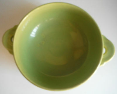 Homer Laughlin / FIESTA / Vintage Cream Soup Bowl / Chartreuse