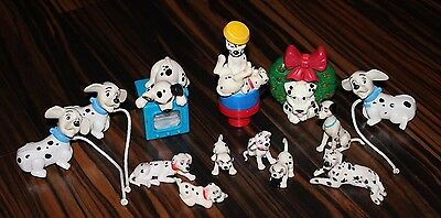101 Dalmations Figures Collectible Lot Disney McDonalds Stamp FREE SHIP!