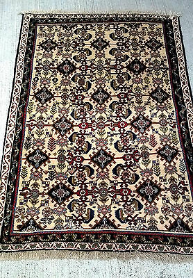 Tapis persan Abadeh teppich noué main tappeto old carpet teppiche rug 150X100cm